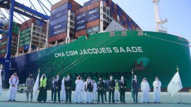Photo of السعودية تستقبل أول وأكبر سفينة حاويات في العالم تعمل بالغاز الطبيعي المسال