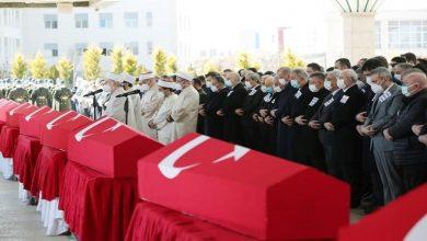 Photo of بمشاركة أردوغان .. تشييع قتلى المروحية العسكرية المنكوبة
