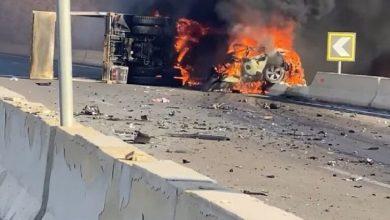 Photo of فيديو صادم لحادث مروري بسبب عربة تسير في الاتجاه المعاكس في مصر