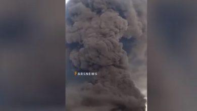 Photo of فيديو .. اندلاع حريق كبير بمنطقة صناعية في مدينة قم بجنوب طهران
