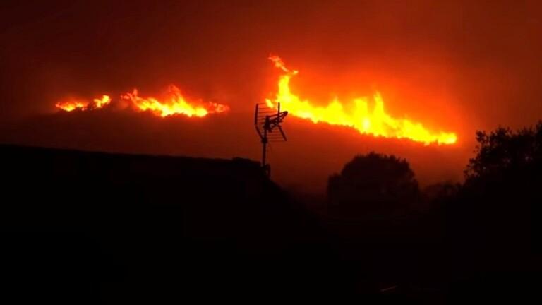 Photo of فيديو .. حريق الغابات في كوستا برافا الإسبانية يجبر المئات على النزوح