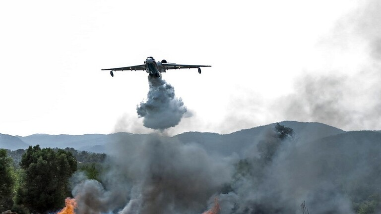 Photo of فيديو .. اللحظات الأخيرة لتحليق طائرة الإطفاء الروسية قبل تحطمها في تركيا