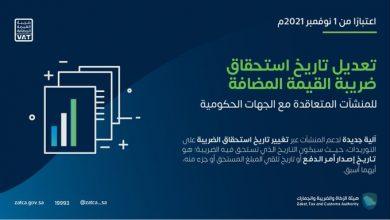 Photo of الزكاة والضريبة والجمارك تُجري تعديلًا على آلية استحقاق ضريبة القيمة المضافة للمنشآت المتعاقدة مع الجهات الحكومية